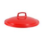 Couvercle avec poignée pour conteneur alimentaire rond HACCP 50 L – rouge