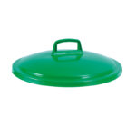 Couvercle avec poignée pour conteneur alimentaire rond HACCP 50 L – vert