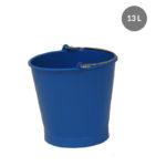 Seau rond 13 L anse inox avec bec verseur – bleu
