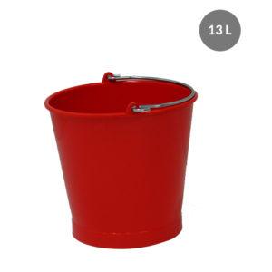 Seau rond 13 L anse inox avec bec verseur – rouge