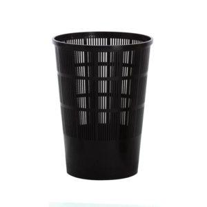 Corbeille à papier ajourée grand modèle – noir