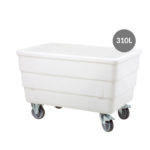 Bac double-paroi 310 L – roues chape inox – blanc