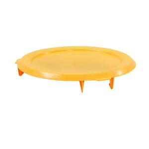 Couvercle avec poignée pour conteneur alimentaire rond HACCP 75 L – jaune