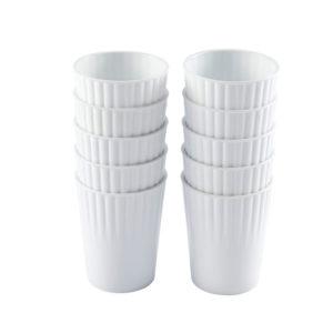Gobelets 22 cl – lot de 10 – blanc