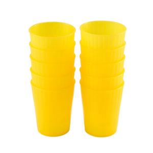 Gobelets 22 cl – lot de 10 – jaune