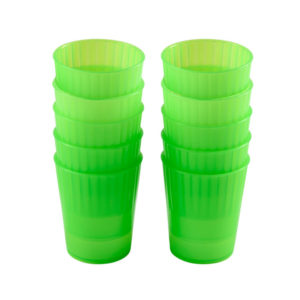 Gobelets 22 cl – lot de 10 – vert